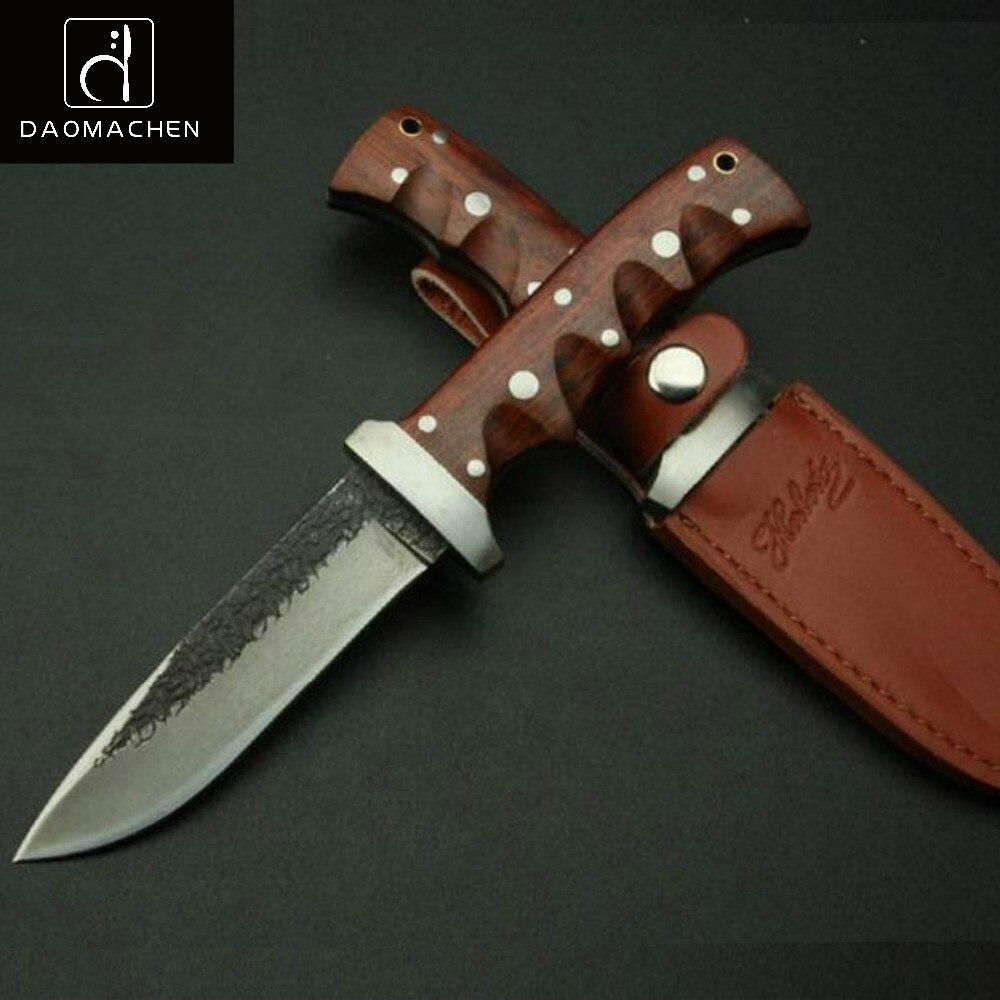 Outil à main couteau de chasse fait à la main en acier à haute teneur en carbone modèle cutter couteau extérieur couteau de survie couteau tranchant processus de collecte