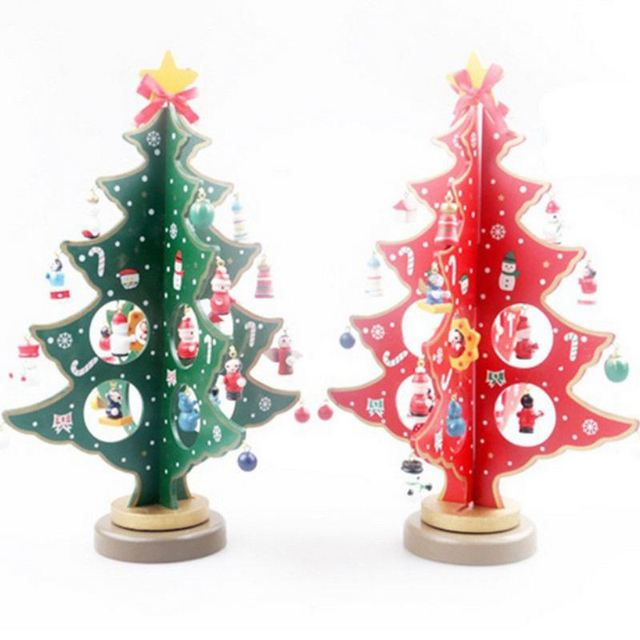 DIY Wooden Christmas Ornaments Festival Party Xmas Tree Table Desk Decoration  Christmas Pendant