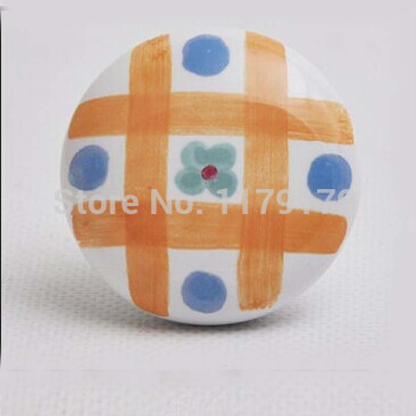 38 мм фарфоровые ручки белые керамические ручки ящика желтый синий кухонный шкаф комод мебельные ручки konbs тянет