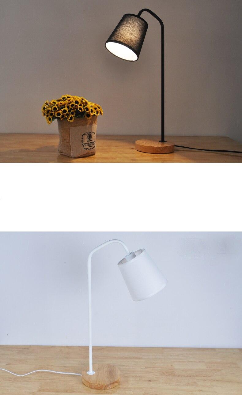 Современная светодиодная настольная лампа, тканевая настольная лампа, обучающая, для чтения, для спальни, теплый, для учебы, мини-Настольный светильник, белые, черные, стоячие лампы TA063