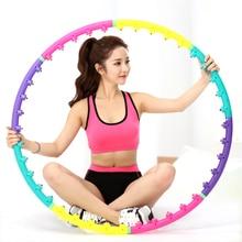Массажный спортивный обруч, для тренировки талии, для похудения, кольцо для гимнастики, жесткий амортизатор трубчатый для фитнеса, круг для женщин, для уменьшения веса, фитнес-оборудование, спортивный