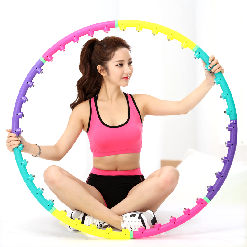 Massage Sport Hoop Waist Exercise Slimming Gymnastics Ring Hard Tube Fitness Circle Women Reduce Weight Fitness Equipment Sport