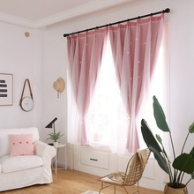 2019 Hollowed Out Star Shading Window Blackout Curtain Drapes s for Living Room Princess Children Baby Kids