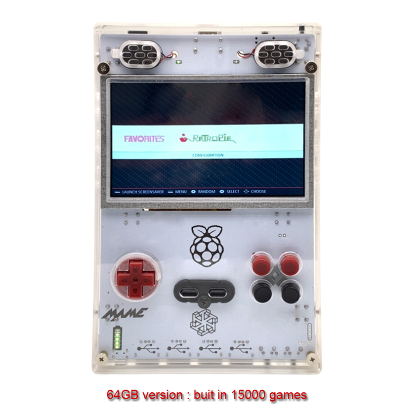 5.0 Inch HD IPS Raspberry pi Handheld Game console retro arcade Compute Module 3 Lite Game console DIY Built-in more more Game