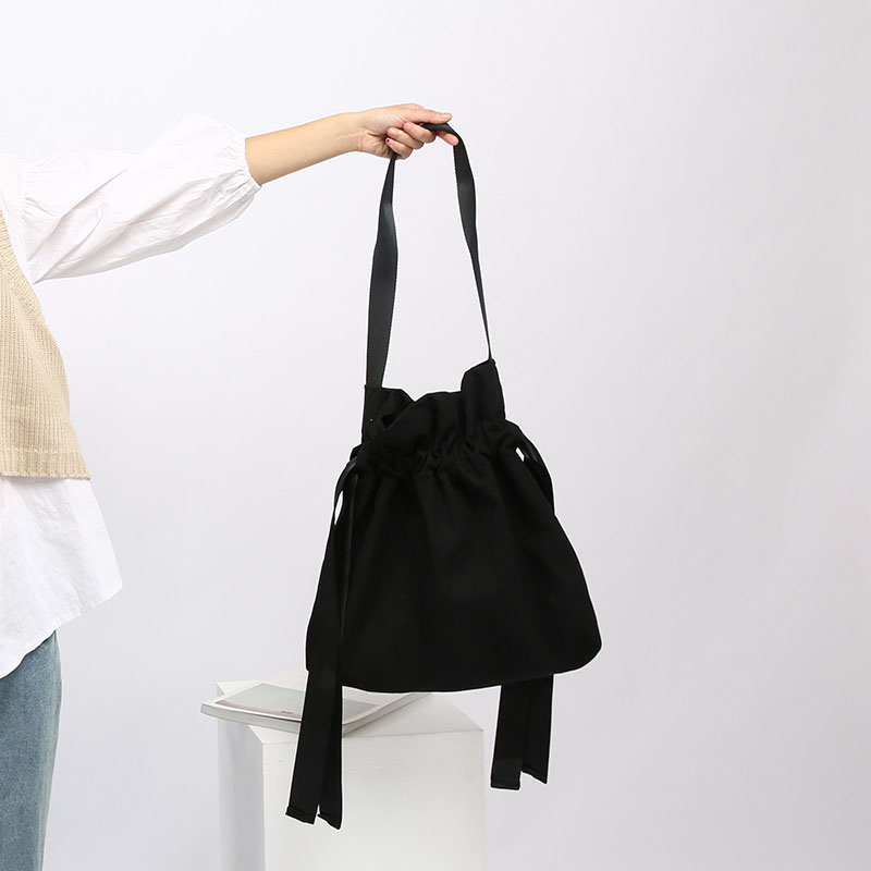 4PCS / LOT Women Canvas Shopping Bag Eco Foldable Candy Colors Tote Pouch  Folding Shopping Trolley Casual Shoulder Bag