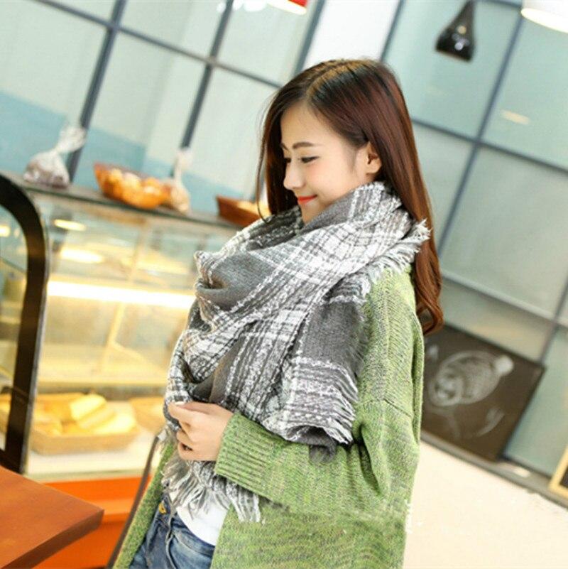 Winter Scarfs Women Fashionable Blanket Scarf Winter Warm Pashmina font b Tartan b font Scarf Plaid