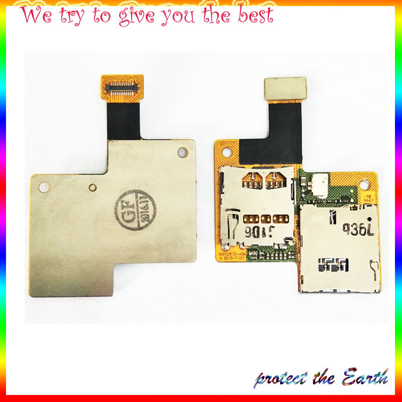 Original New For HTC Desire 601 SIM Card Tray Slot Reader Holder Flex Cable Replacement Parts