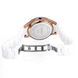 Image 5 - 2019 אופנה חדשה פשוט קריסטל גבירותיי שעון קרמיקה רצועה עמיד למים רב פונקציה קוורץ גבירותיי שעון גבירותיי מתנות Reloj Mujer