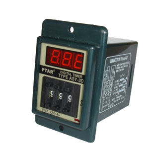 Black ASY-3D AC/DC 12V 1-999 Minute 8 Pins Power on Delay Timer Time Relay