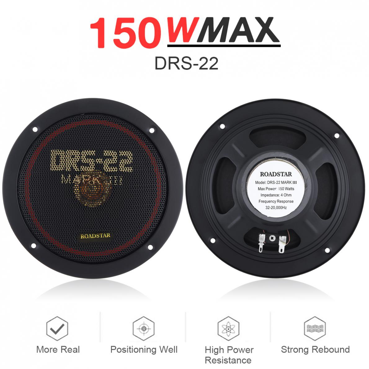 2pcs 6.5 Inch 150W 12V Car Coaxial Speaker Vehicle Door Auto Music Stereo Full Range Frequency Hifi Speakers Non-destructive