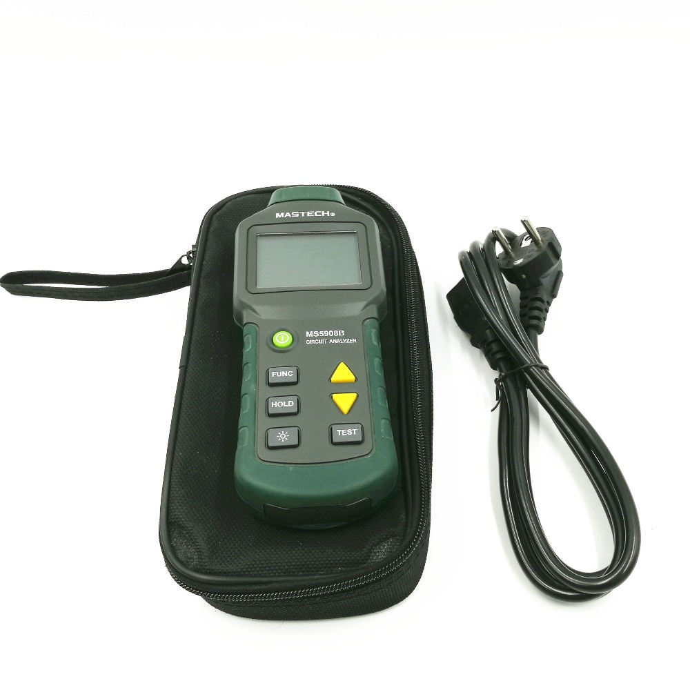 MS5908 upgrade version is MS5908B TRMS voltage GFCI RCD Tester Circuit Analyzer fit IDEAL SureTest 61-164CN mastech ms5908 circuit analyzer trms ac low voltage distribution line fault tester rcd gfci sockets testing