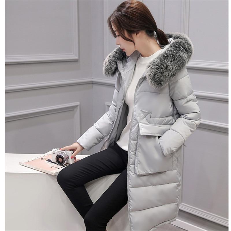 women coats fashion 2016 winter down zipper medium and long full sleeve cotton warm slim coat