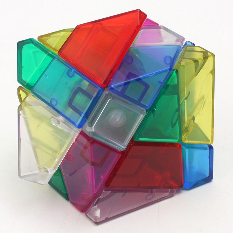 Ghost 3x3 Magic Cube Skew Twist Stickerless Speed Magic Cubes Puzzle Toy Children Kids Gift Toy Youth Adult Gift Transparent Rai