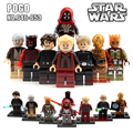 8 pçs/set 7 Darth Vader de Star Wars A Força Desperta Figuras de Ação Building Blocks Bricks Compatível Kylo Ren toy Natal presente