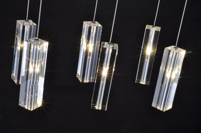 Moderne hanger eettafel lamp licht keuken deco verlichting crystal