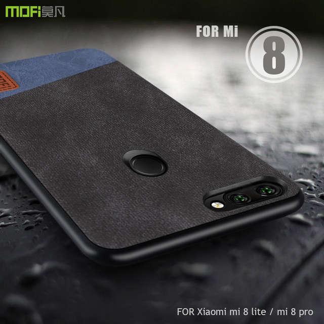 US $7 59 24% OFF For Xiaomi mi 8 lite case cover MOFI Xiaomi mi 8 pro  Fabric leather Back Cover Case for xiaomi mi 8X/mi8 lite Full Cover Case-in