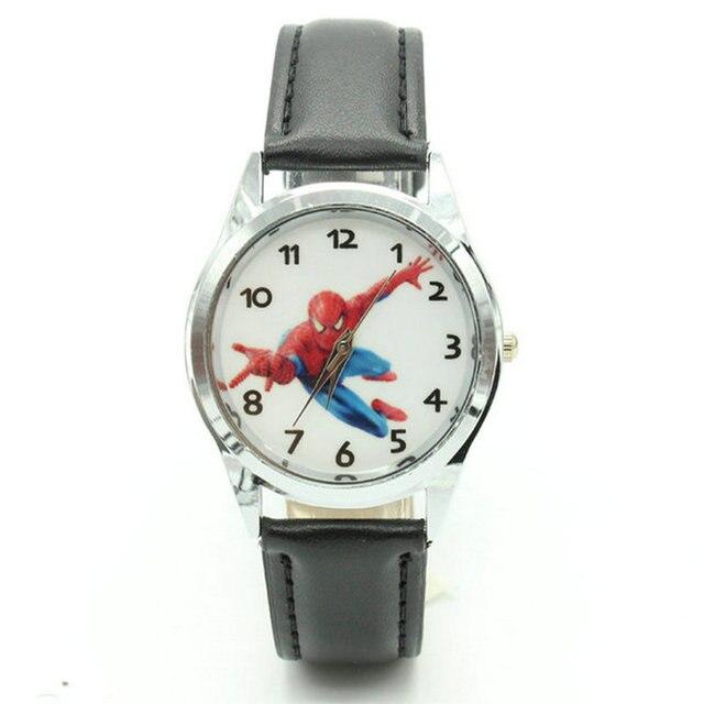 Free Shipping 2018 Hot Sale SpiderMan Watch Cute Cartoon Watch Kids Watches Rubb