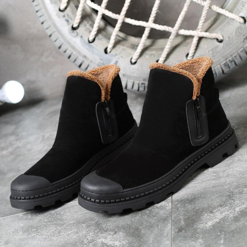Cuero Uomo Fahsion Ocasionales Invernali Los Felpa De Caliente Mycolen Calidad Hombres Zapatos Con Alta Mantener Negro Botas Nubuck Scarpe Invierno x1UPqwTZn8