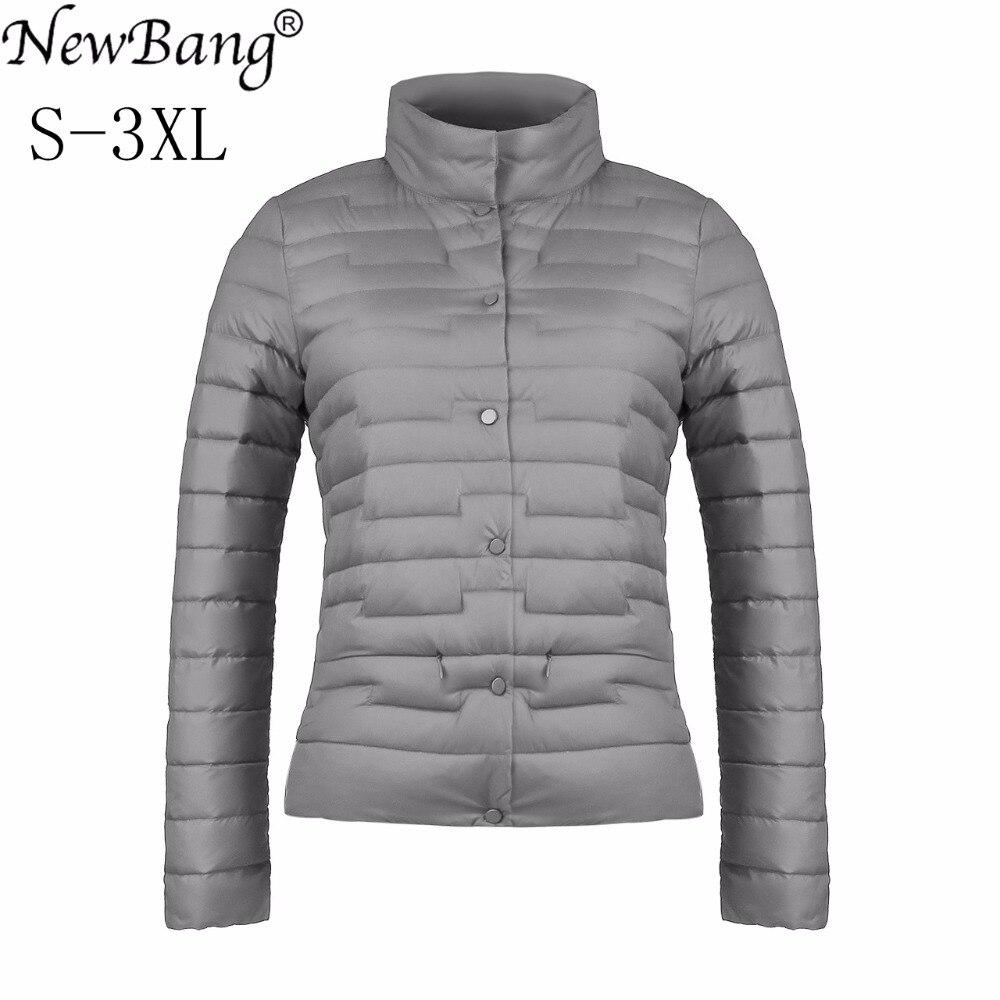NewBang Ultra Light Down Jacket Women Duck Down Jacket Feather Coat Matt Windproof Thin Warm Light Weight Female Jackets