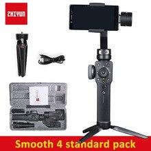 Zhiyun Smooth 4 3-осевой ручной держатель для телефона шарнирный стабилизатор для камеры для iPhone 6/7/8/X стабилизатор для gopro Экшн-камера PK DJI Osmo 2
