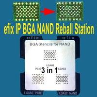 Efix IP 3 In 1 NAND BGA Reballing Rework Station Stencils JIG Kit For IPhone IPad