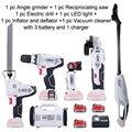 NEWONE/Keinso 12 V conjuntos de ferramenta de poder ferramenta de energia elétrica portátil com três baterias de lítio e um carregador