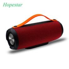Hopestar e13 10 w coluna portátil ao ar livre sem fio bluetooth alto-falante mp3 tf rádio fm música estéreo subwoofer para pc mp