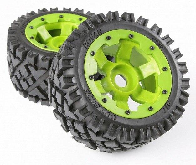 1 5 baja 5b roda traseira nailon todo o terreno conjunto de pneus