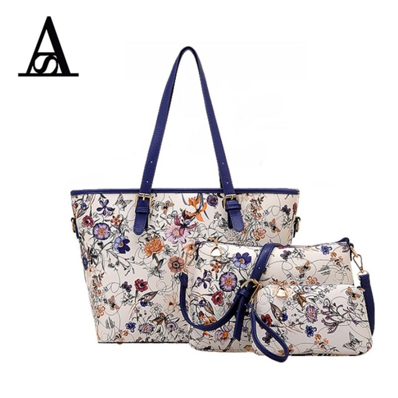aitesen flower composite tote bags handbags women famous brands sac a main mochila feminina. Black Bedroom Furniture Sets. Home Design Ideas