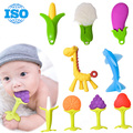 Baby Toys silicone banana baby teether toys toothbrush Animals and plants toys with packaging for Neonatal