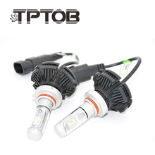 TPTOB H4 H7 H11 H1 H3 9005 9006 COB Car LED Headlight Bulbs Hi-Lo Beam 72W 8000LM 6500K Auto Headlamp Fog Light Bulb DC12v 24v