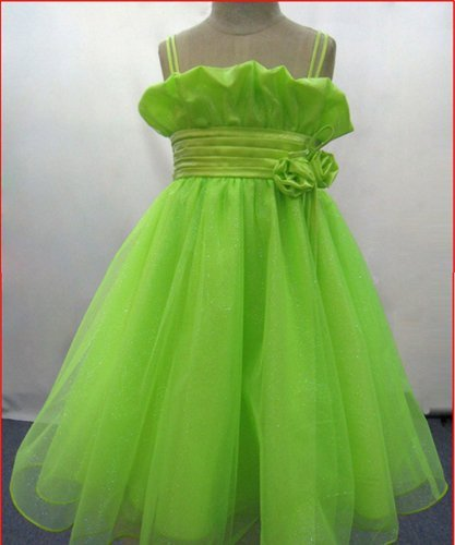 Organza Formal Dress for Child Imported Satin Girl's Party Skirt Classic Princess Dress formal attire 20pcs wholesale!