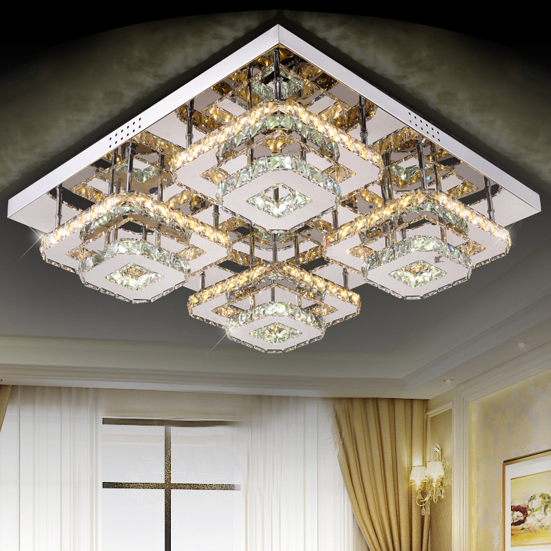 led Crystal Ceiling lights home modern lampen kristal design for living dining room lamp deckenleuchten de cristal lighting modern led ceiling lights for home lighting plafon led ceiling lamp fixture for living room bedroom dining lamparas de techo