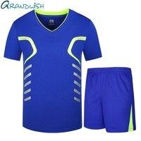 Grandwish Large Size T Shirt Set Men V Neck Men Set T Shirts Plus Size 7XL