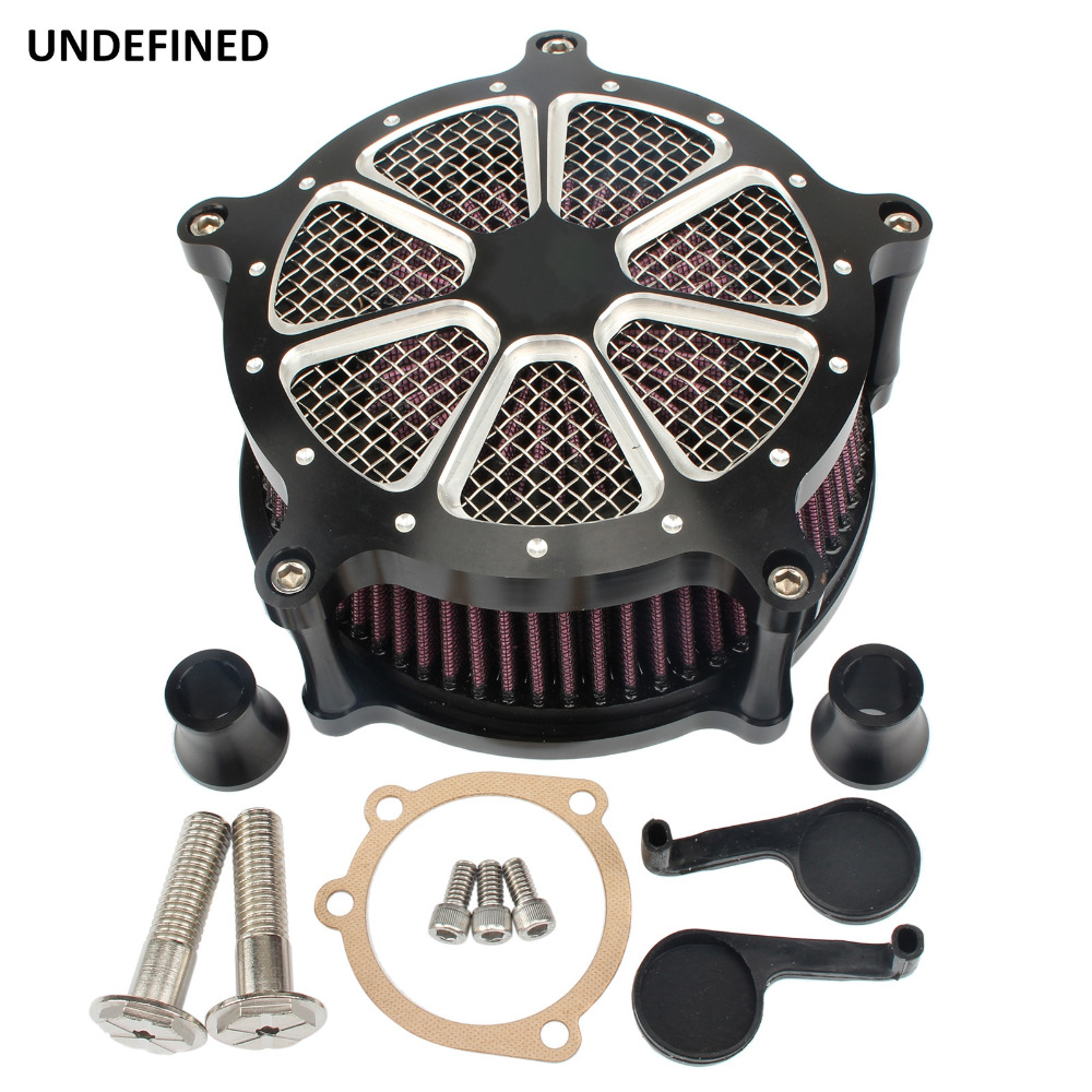 Black Air Filter Motorcycle CNC Contrast Cut Venturi Air Cleaner System For Harley Sportster Iron 883 Forty Eight 72 1991-2019 wrench