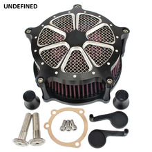 Black Air Filter Motorcycle CNC Contrast Cut Venturi Air Cleaner System For Harley Sportster Iron 883 Forty Eight 72 1991-2019 black motorcycle accessories cnc skull brake clutch levers for harley sportster xr xl1200 883 forty eight 2014 2015 2016