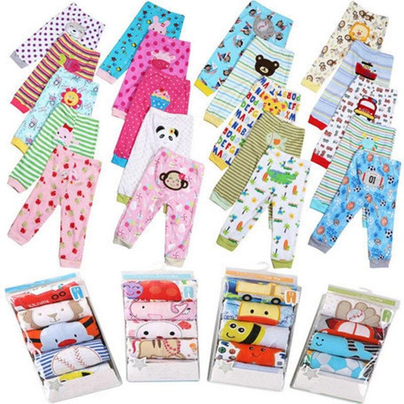 5 PCS/PackFor affiche L'âge 3-24 M Bébé Pantalon Fille et BoyTrousers Enfants Coton Pantalon Garçon de Bande Dessinée Fille infantile Tout-petits Vêtements Pour Bébé Leggings