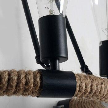 Vintage Retro Loft Touw Wandlamp  6