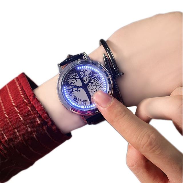 2017 New style Men&Women Sports Watches 30m Waterproof LED Touch Digital Watch C