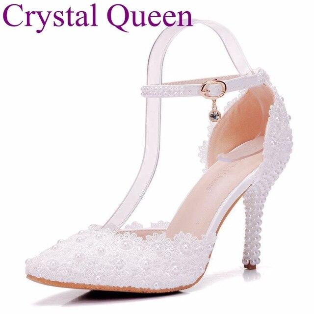 Newest fashion woman high heel wedding shoes lace thin heel elegant party  woman shoes e8ec26da3dcc