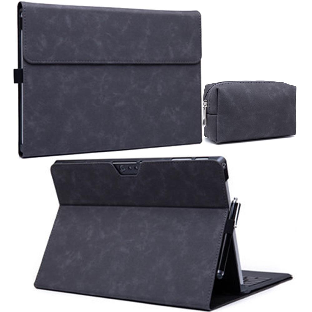 Роскошный чехол-книжка из искусственной кожи для Microsoft Surface pro 7 6 5 4 3 X Tablet funda для Surface Go Go2, женская и Мужская откидная крышка