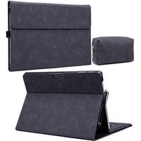 Funda de cuero PU con soporte para tableta, carcasa abatible de lujo para Microsoft Surface pro 7, 6, 5, 4, 3, Go Go2