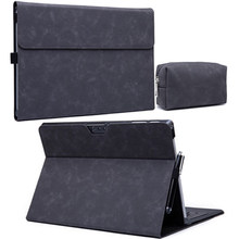 Couro do plutônio de luxo folio suporte caso para microsoft surface pro 7 6 5 4 3 x tablet funda para superfície go go2