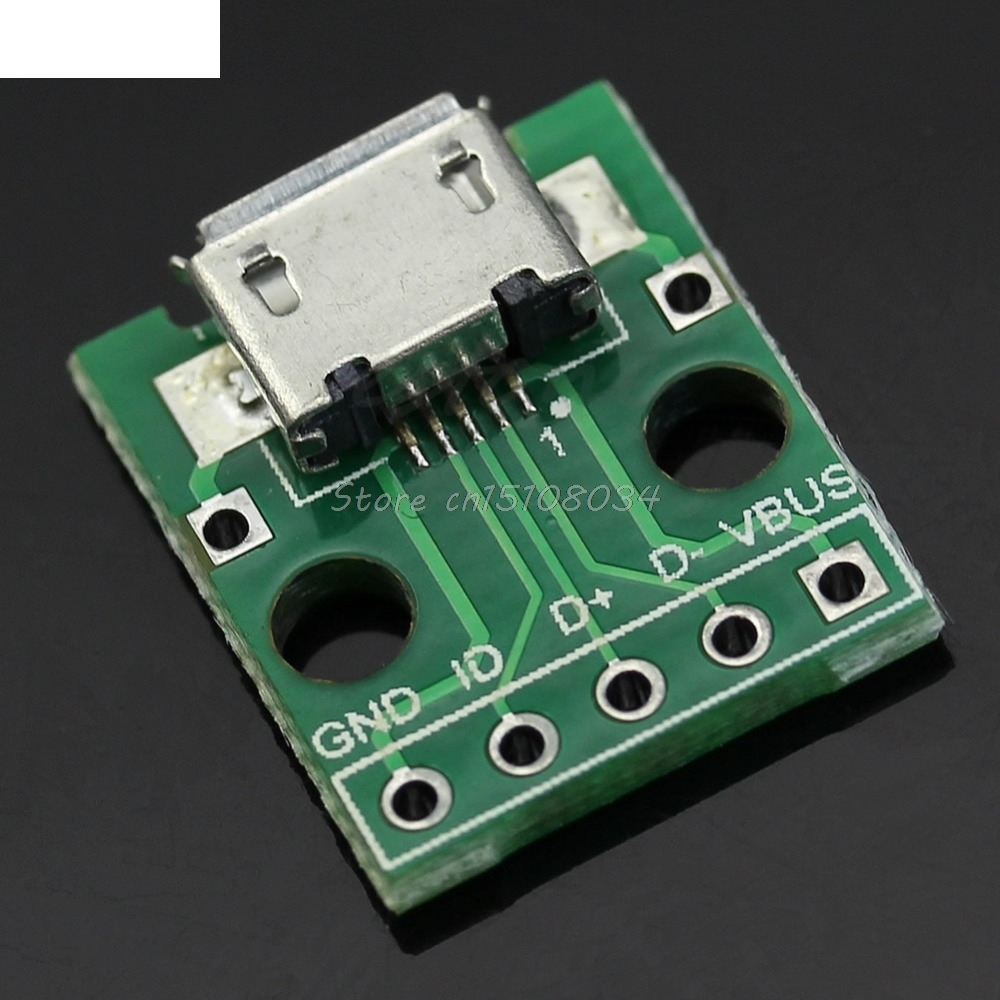 5Pcs/lot Female MICRO USB To Dip 5-Pin Pinboard Type B Plug Adapter Plate Weld Head ...
