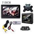 Retrovisor do carro monitor de retrovisor sistema de câmera de segurança 7 Tft LCD de Visão Noturna Carro-styling Varejo & Atacado Frete Grátis