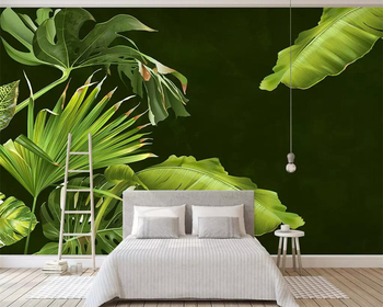 Beibehang Custom wallpaper tropical plant banana leaf Nordic modern minimalist TV background wall decoration murals 3d