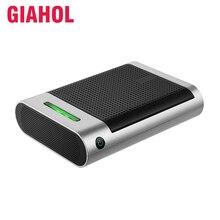 Giahol Mini purificateur dair Portable pour voiture, filtre HEPA, purificateur dair pour voiture, élimination de la poussière, du Pollen et de la fumée, pour la maison