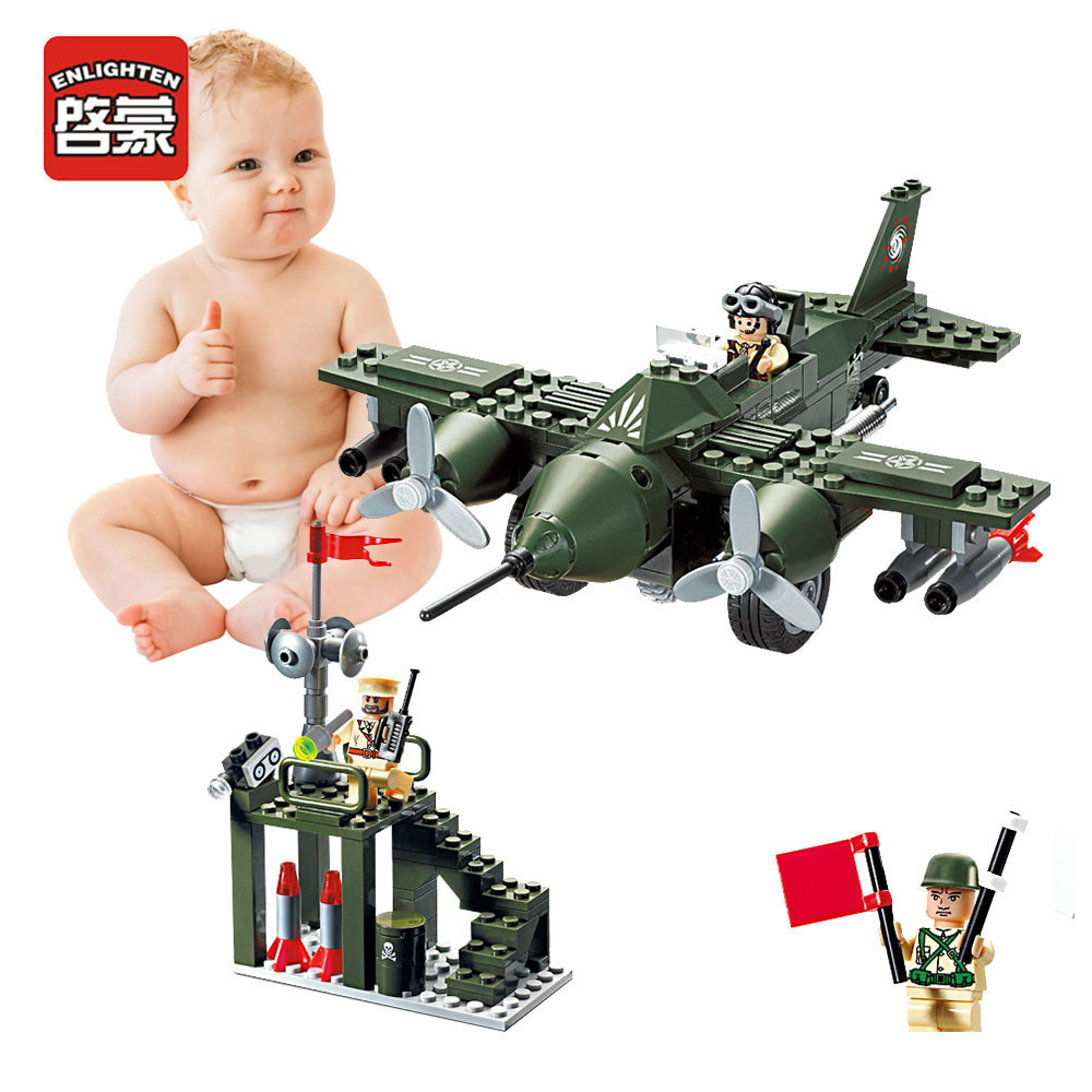 Enlighten Military Educational Building Blocks Toys For Children Gifts War Truck Car Panzer Moto Aircraft Helicopter enlighten 1406 8 in 1 combat zones military army cars aircraft carrier weapon building blocks toys for children