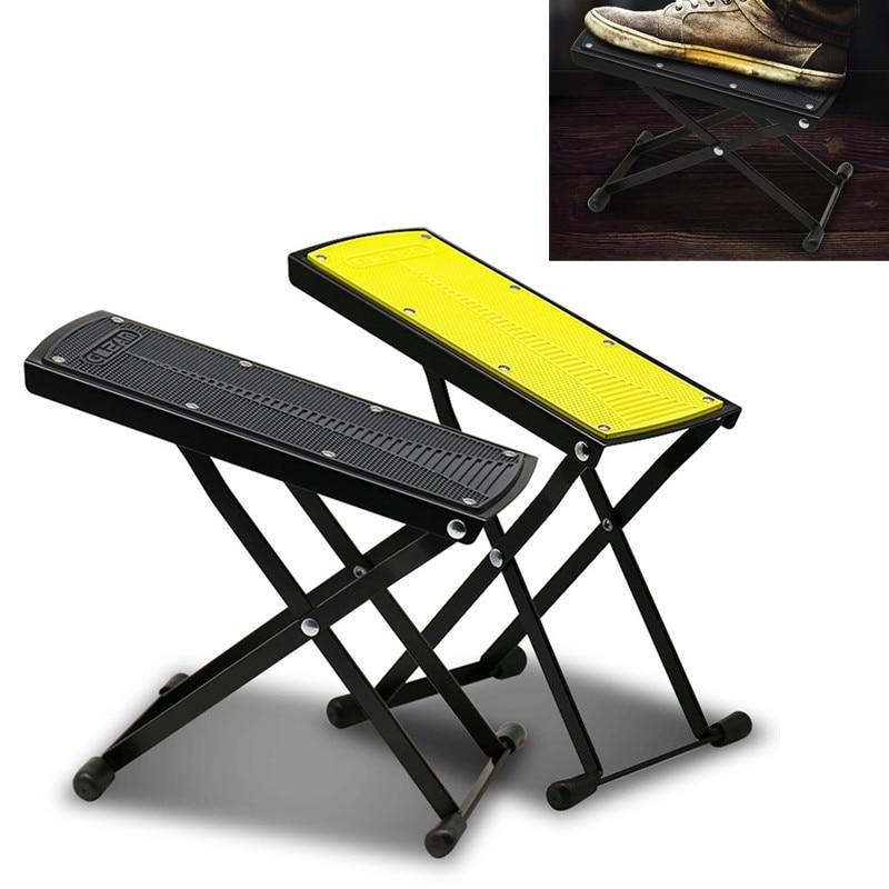 Folding Guitar Footrest Adjustable Footstool Antiskid Pedals Musical Instruments Accessories