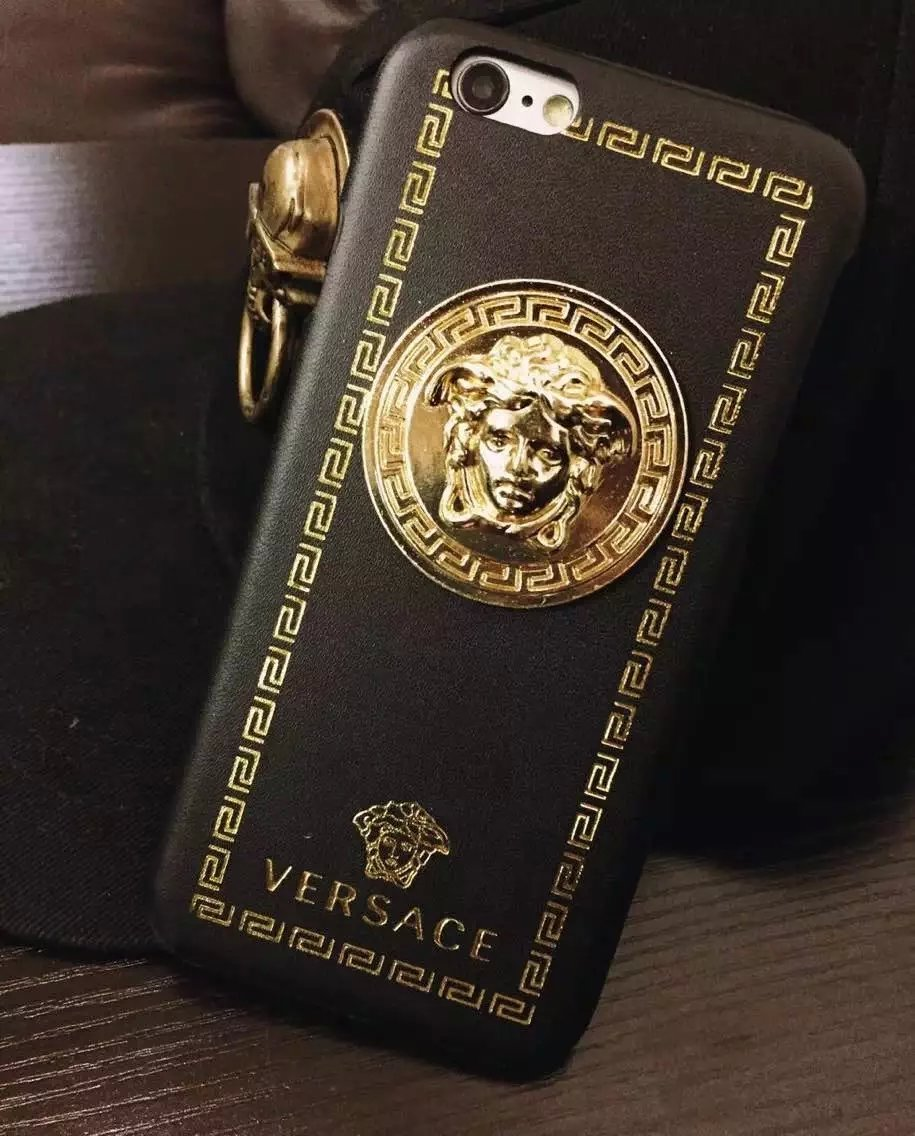 purchase cheap 1e59b 2debc US $10.45 |Luxurious Leather Golden Logo Phone Case For iphone 6 / 6s 4.7'  on Aliexpress.com | Alibaba Group